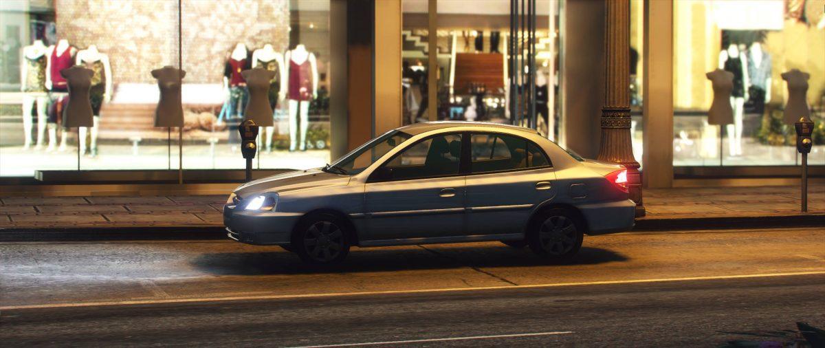 Kia Rio 2002 GTA 5 Car Mod – First Exclusive mod at gtacarmods