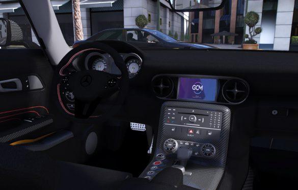 Mercedes Benz SLS Black series interior